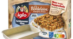 iglo bringt Pappschale für Backofenzubereitung