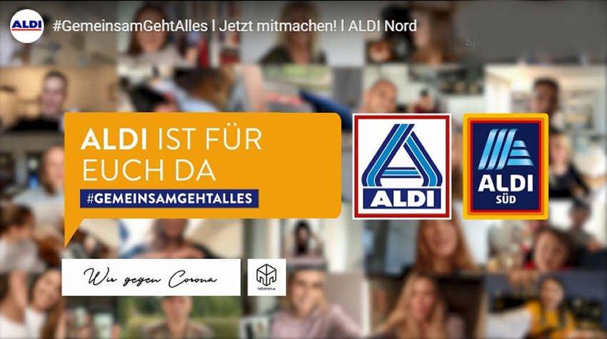 #gemeinsamgehtalles - ALDI zeigt Zusammenhalt