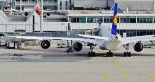 Passagierluftverkehr nahe dem Stillstand